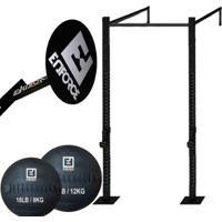 Kit 6 - Rack Standard Rk002 + Alvo 40Cm + Wallball De 8Kg E 12Kg - Enforce Fitness - Unissex