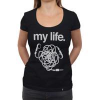 My Life Headphone - Camiseta Clássica Feminina
