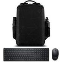 Kit Mochila Para Notebook Dell Essential 15.6 + Teclado E Mouse Sem Fio Dell Pro Km5221W Preto