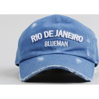 Boné Infantil Blueman Rio De Janeiro Em Jeans Azul Médio