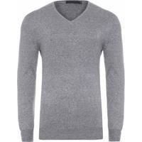 Blusa Masculina Tricot Básico - Cinza