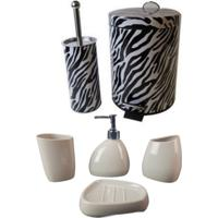 Kit Wincy Para Banheiro Com Lixeira Saboneteira Porta Escova - Deca R 02