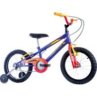 Bicicleta Aro 16 Cross Raiada Azul Track Bikes