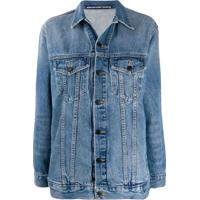 Alexander Wang Jaqueta Jeans Ampla - Azul