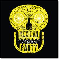 Placa Decorativa - Mexican Tequila Party - 0699Plmk