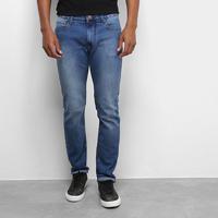 Calça Jeans Skinny Calvin Klein Estonada Masculina - Masculino-Azul