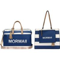 Kit Com Bolsa Satchel Navy 2 Em 1 + Bolsa Sacola Utilitária - Mormaii - Azul Azul - Kanui