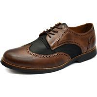Sapato Social Shoes Grand Europa Marrom/Preto