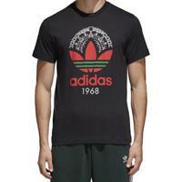 Camiseta Masculina Trefoil Graphic Adidas Preta
