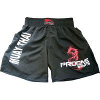 Shorts Muay Thai Progne Preto