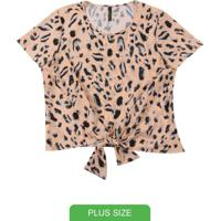 Blusa Com Estampa Animal Print Laranja
