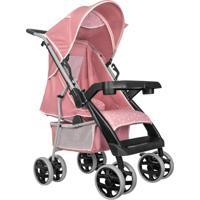 Carrinho De Bebê Tutti Baby Thor Plus Regulável 4 Posições Até 15Kg - Rosa Coroa