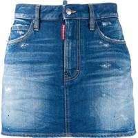 Dsquared2 Saia Jeans Destroyed - Azul