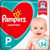 Fralda Pampers Supersec Tamanho P 34 Tiras