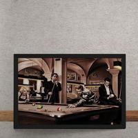 Quadro Decorativo Sinuca Marylin Monroe Elvis Presley James Dean Humphrey Bogart 25X35