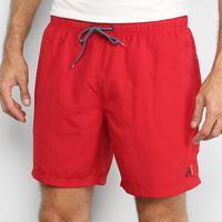 Shorts Jab Liso Básico Masculino - Masculino-Vermelho