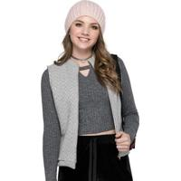 Colete Juvenil Tweed Cinza
