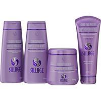 Kit Sillage Shampoo Condicionador Hidrataçáo E Creme Para Pentear Hydra-Intense - Tricae