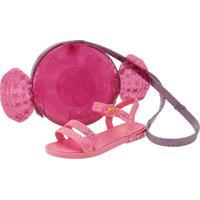 Kit Sandália Barbie + Bolsa Candy Grendene Kids - 22492 Pink 23/24
