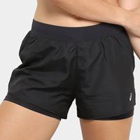 Short Asics Core Running Shorts 2In1 3In Feminino - Feminino-Preto