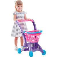 Carrinho Infantil Imaginativa Super Mercadinho Rosa Calesita C212 - Feminino-Rosa