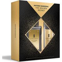 Kit Perfume Masculino Antonio Banderas The Golden Secret Edt100Ml + Desodorante 150Ml - Masculino-Incolor