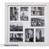 Painel Para 8 Fotos- Branco- 45X45X2Cm- Kaposkapos