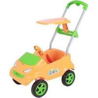 Carrinho De Passeio Infantil Baby Car Com Empurrador E Capota - Unissex-Laranja+Verde