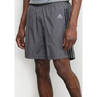 Short Adidas Run It 3S Masculino - Masculino-Cinza