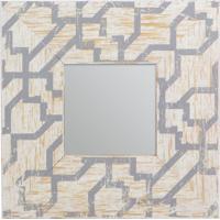 Espelho Com Moldura- Espelhado & Cinza- 24X1,2X24Cm