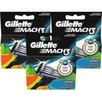 Kit Gillette 12 Cargas Mach 3 Regular + Brinde Necessaire
