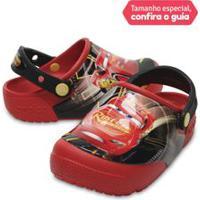 Crocs Infantil Funlab Lights Carros 3 Vermelho Flame - 24