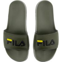 Chinelo Fila Drifter Basic - Slide - Masculino - Verde Escuro