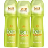 Ban Kit Desodorante Antitranspirante Roll-On 103Ml Trio - Fresh Cotton
