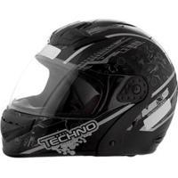 Capacete Mixs Helmets Gladiator Tecno - Preto/Cinza