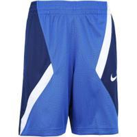 Bermuda Nike Dry Avalanche - Infantil - Azul/Azul Esc