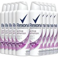 Kit 10 Desodorante Antitranspirante Rexona Emotion 150Ml - Unissex