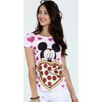 Blusa Juvenil Estampa Mickey Pizza Disney