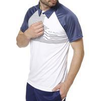 Polo Esportiva Manga Curta Masculina Local - Masculino-Azul