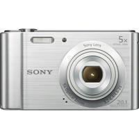 Câmera Digital Sony Cyber Shot Lcd De 2,7'' 20.1Mp Dsc-W800 Prata