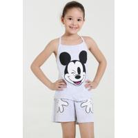 Pijama Infantil Short Doll Mickey Disney