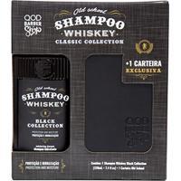 Kit Qod Barber Shop Shampoo Para Cabelo E Barba Old School Whiskey 220Ml + Carteira Qod Barber - Masculino