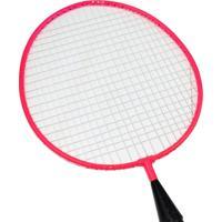 Kit Mini Raquetes Badminton Tempo Livre Rosa Winmax Wmy02021