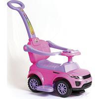Carrinho Andador Infantil Primeiros Passos Sport Car Com Haste Para Empurrar E Músicas Unitoys (Rosa)