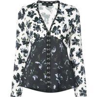 Proenza Schouler Blusa Floral - Branco