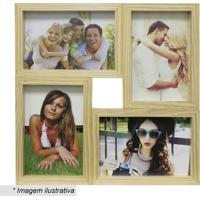 Painel Para 4 Fotos- Bege- 29,5X29,5X6Cm- Kaposkapos