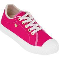 Tênis Infantil Pink Em Tecido