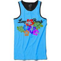 Camiseta Long Beach Regata Floral Sublimada Masculina - Masculino
