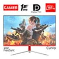 Monitor Gamer Led Curvo 24P 1Ms 165Hz Hq 24Ghq-White Rgb R3000 Freesync Hdmi Display Port Branco