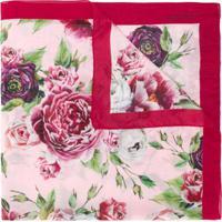 Dolce & Gabbana Kids Lenço Floral - Rosa